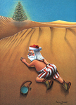 Santa Clause - In the Desert